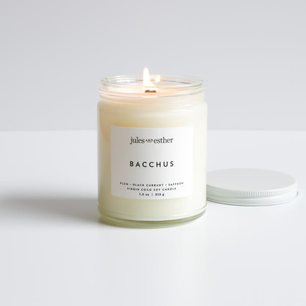 Bacchus: Wooden Wick + Virgin Coco Soy Candle