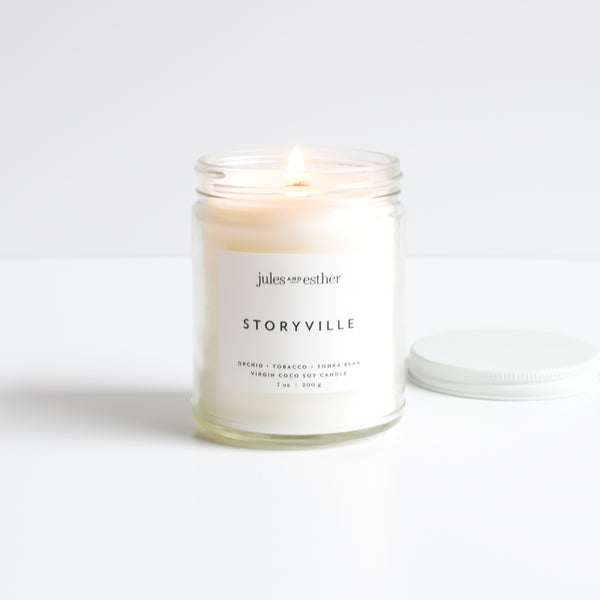Storyville: Wooden Wick + Virgin Coco Soy Candle
