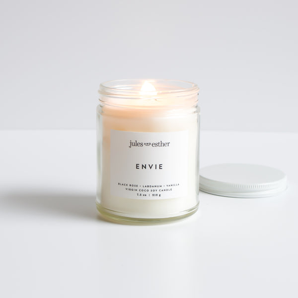 Envie: Wooden Wick + Virgin Coco Soy Candle