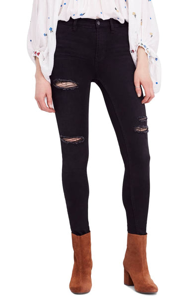Free People Jean Destroyed Long and Lean