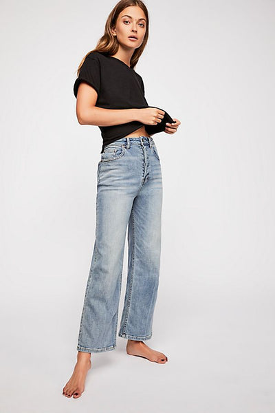Free People Jean Wales Wide Leg