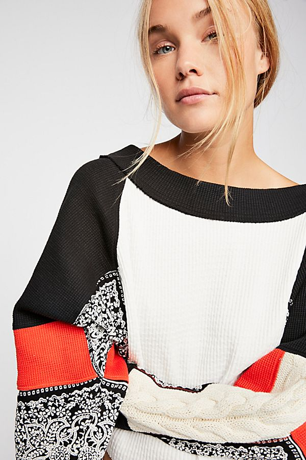 Free People Josie Patterned Sweater