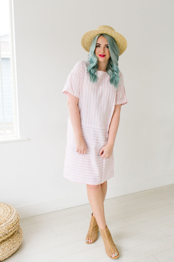 Linen Lines Dress | 2 Colors!