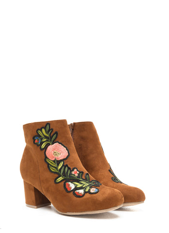 Embroidered Booties | 2 Colors!