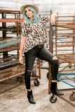 Scoop Neck Leopard Top | 2 Colors!