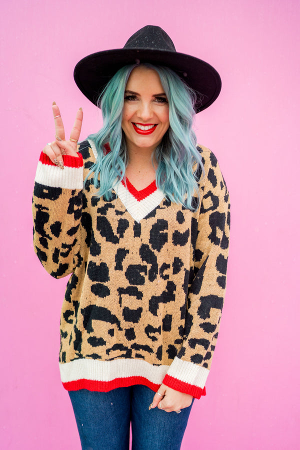 Varsity Leopard Sweater | 2 Colors!