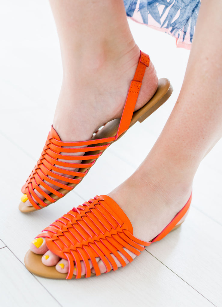 Woven Sling Back Sandals | 4 Colors!