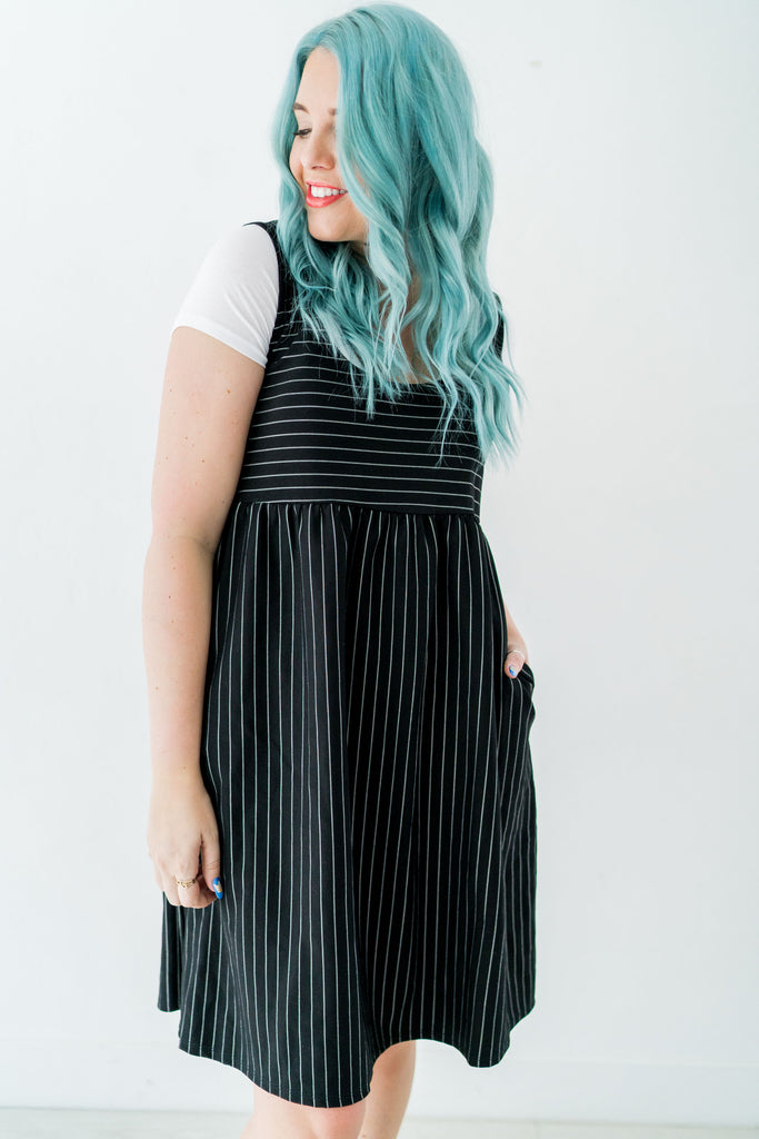 Pockets Full Of Posies Pinafore Dress