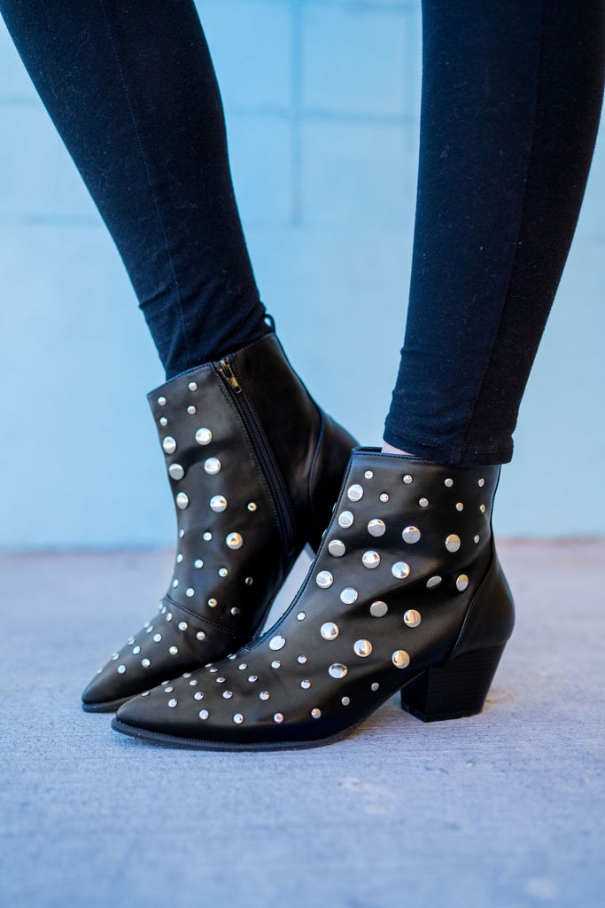 Feelin' Like a Rockstar Studded Boots | 2 Colors!