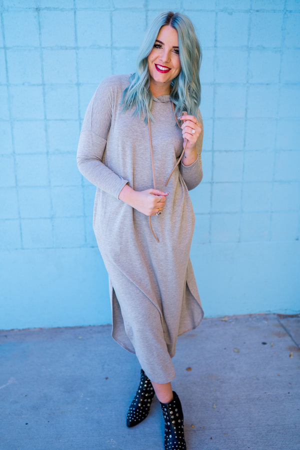 French Terry Hooded Dress | 2 Colors!