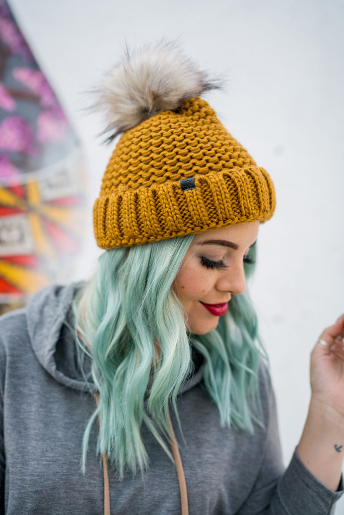 Double Puff Knit Beanie  7bab2a05727