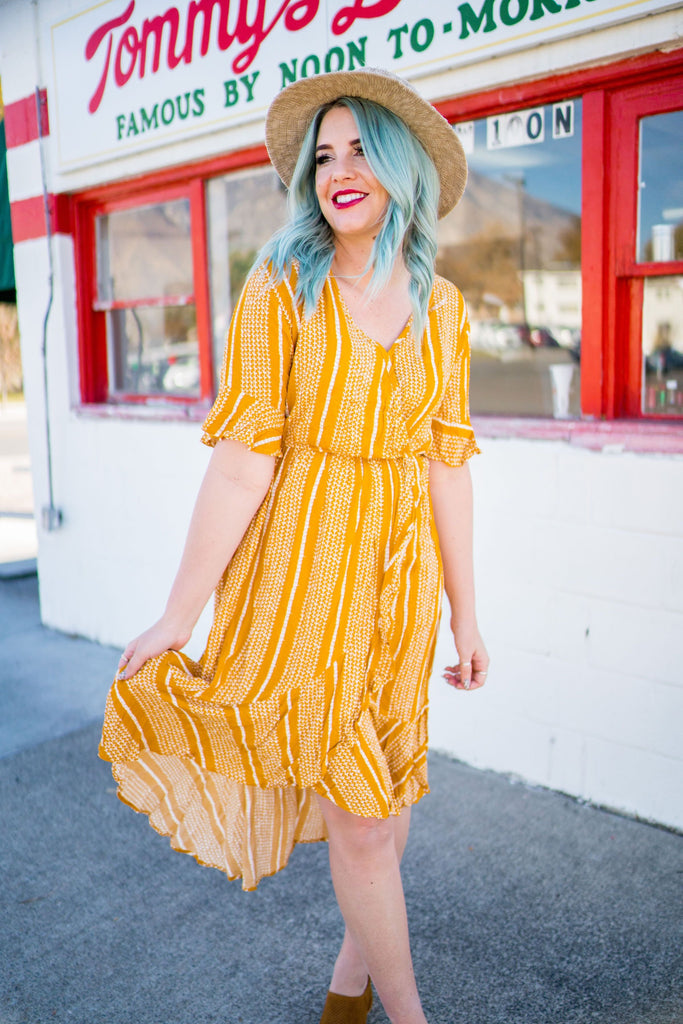 Goldenrod Striped Dress