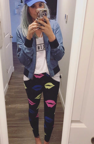 Neon Lip Leggings