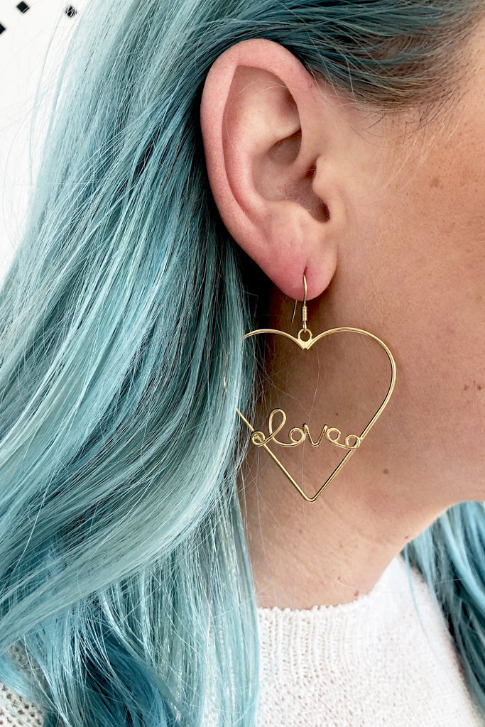 Love In My Heart Hoop Earring | 2 Colors!