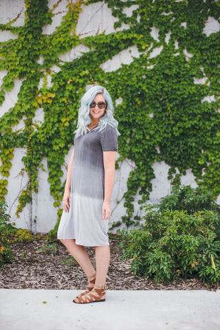 Grey Scale Ombre Dress