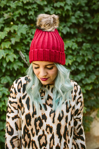 Cable Knit Pom Beanie | 6 Colors!