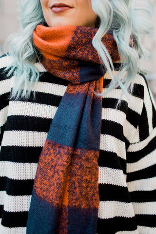 Bulky Plaid Scarf | 2 Colors!