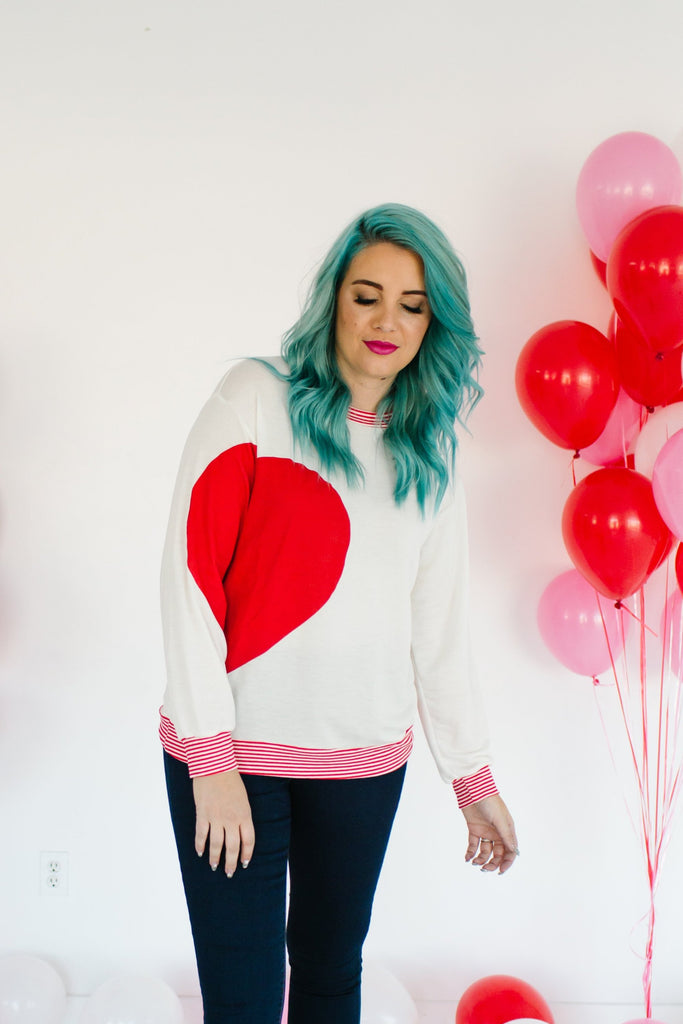 Half Of My Heart Sweater | Up to 3XL!