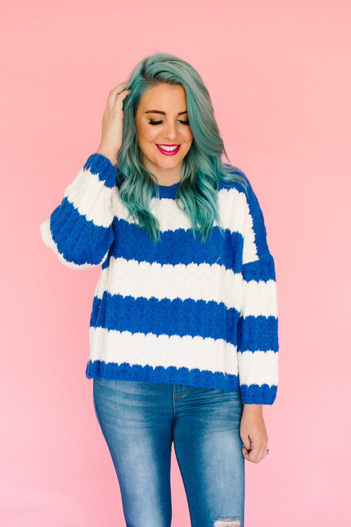 Signs Of Light Stripe Sweater | 2 Colors!