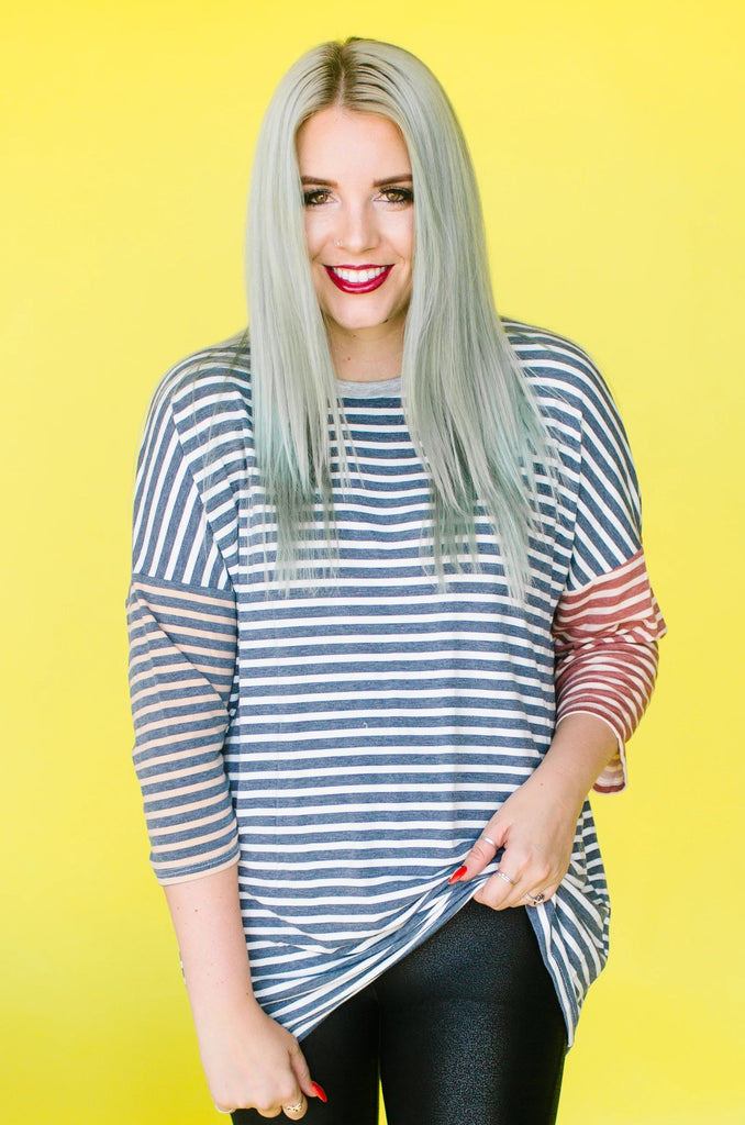 Demarie Striped Top
