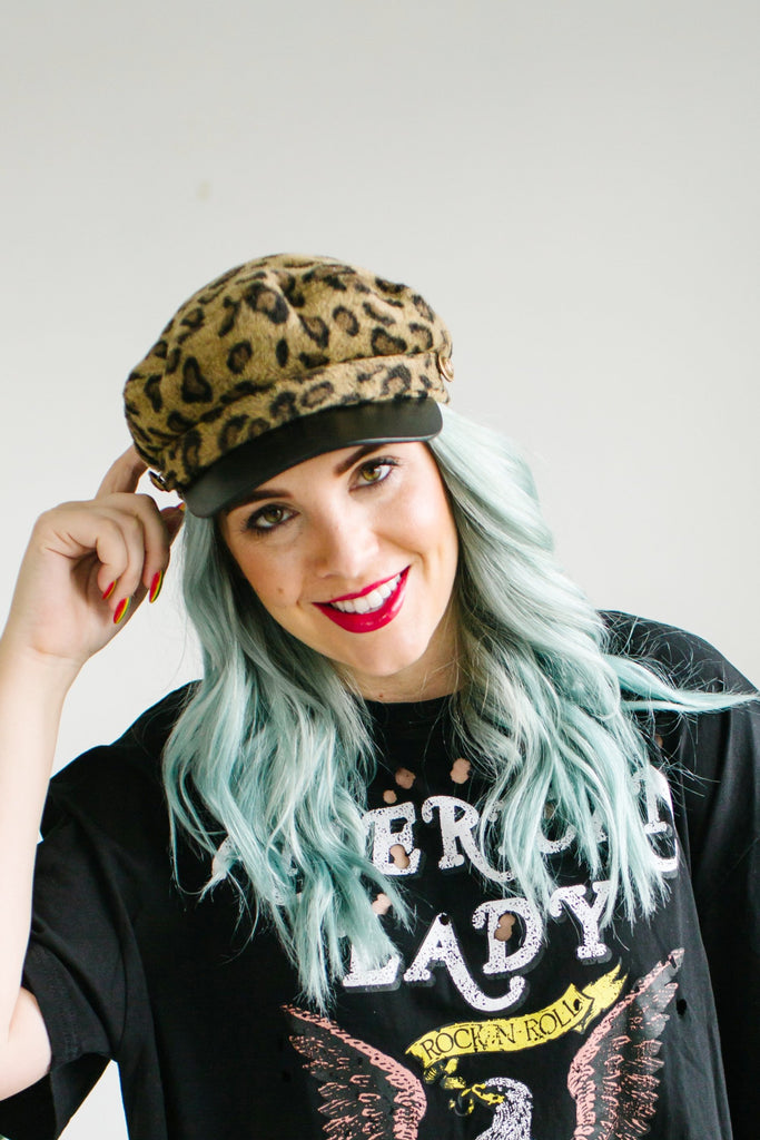 Leopard Cabby Hat