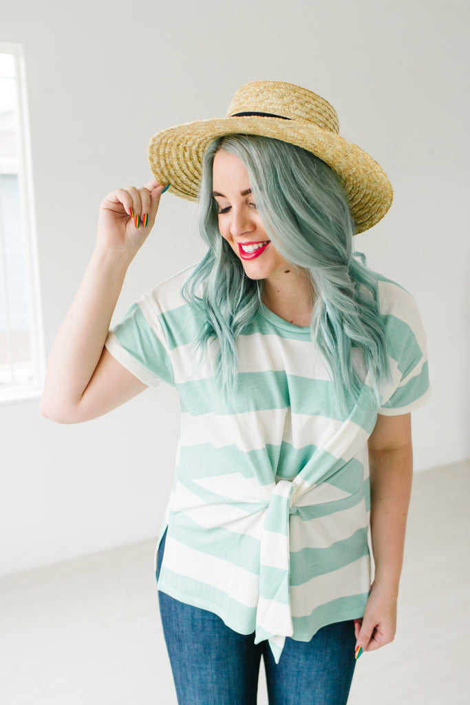 Tie Me Up Striped Top | 2 Colors!
