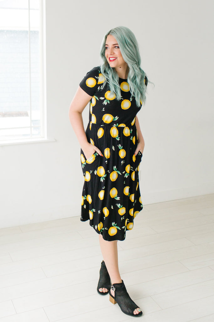 Fit and Flare Lemon Dress | 2 Colors!