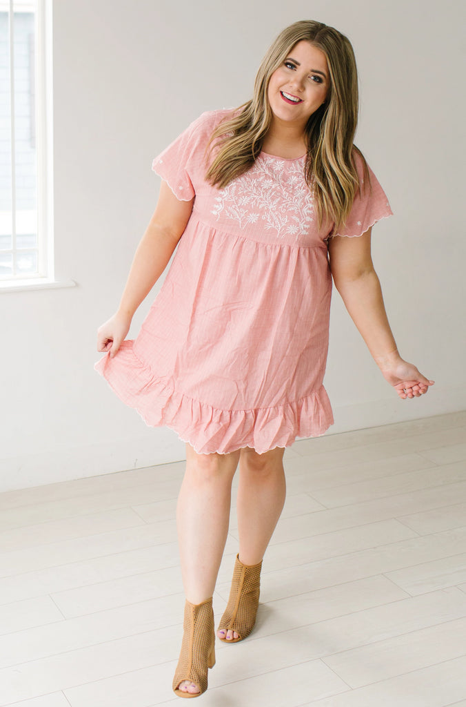 Blushing in Floral Plus Size Dress – The Red Closet Shop