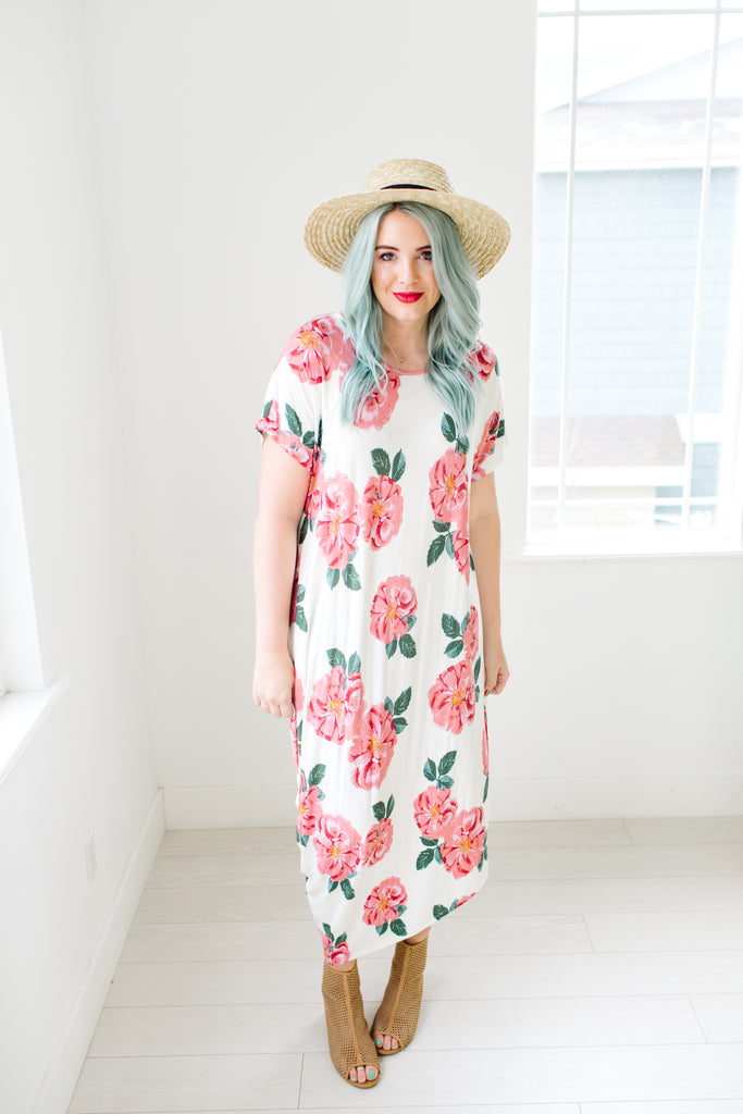 d04a6251641 Fun in Floral Asymmetrical Maxi Dress | Up to 3XL!