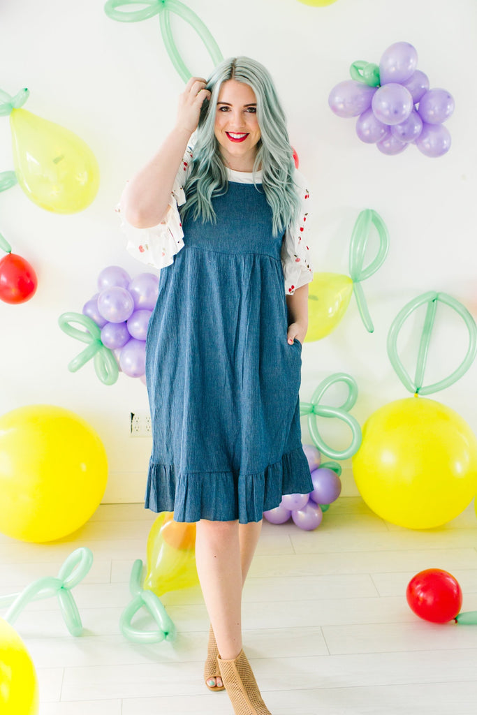 Darling Blue Babydoll Dress
