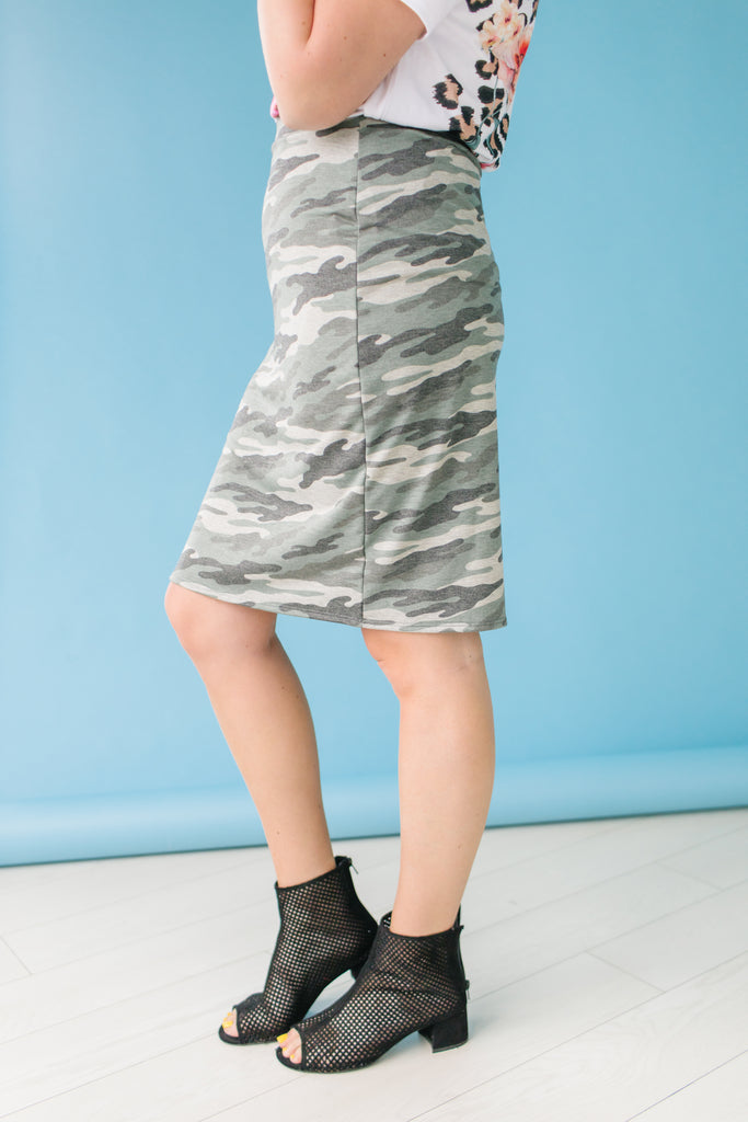 Basic Training Army Skirt | Up to XL!