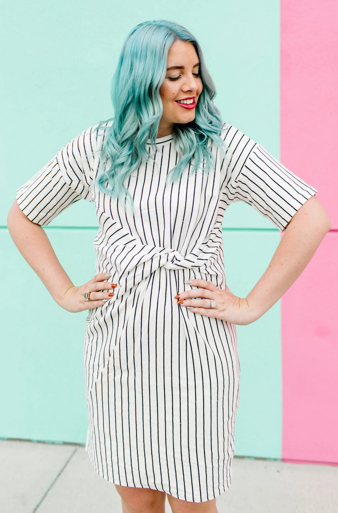Twisted Lines Dress | 2 Colors!
