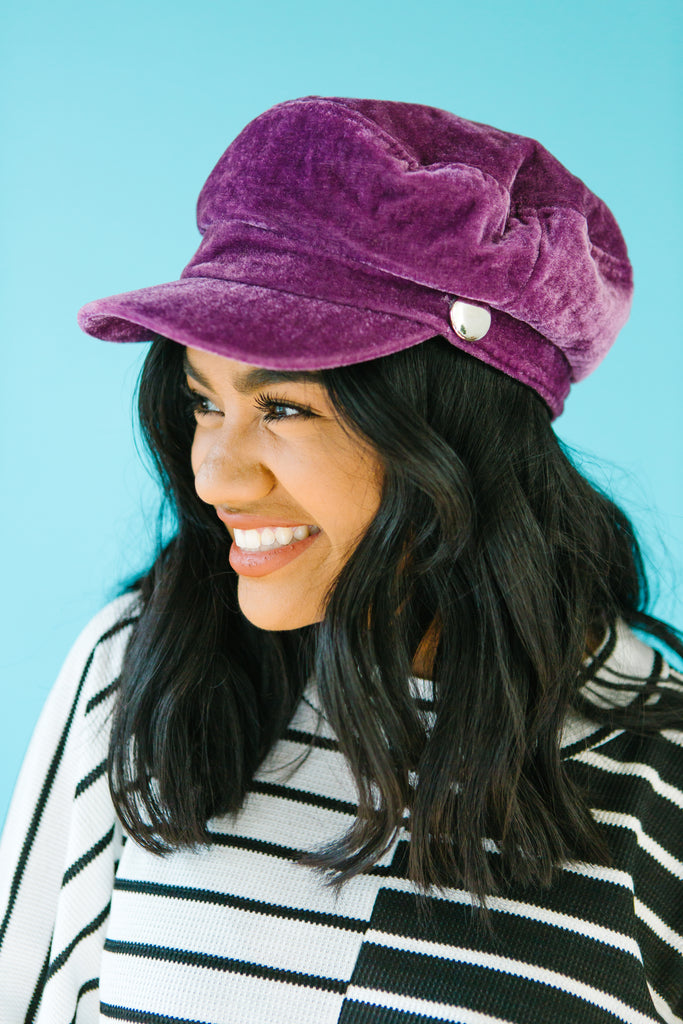 VaVaVoom Velvet Cabby Hat | 2 Colors!