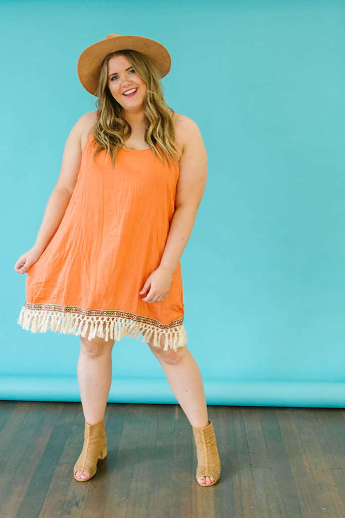 On the Fringe Plus Size Dress | 2 Colors!
