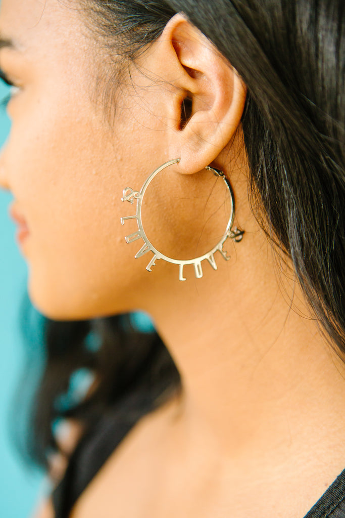 Love & Love Hoop Earrings