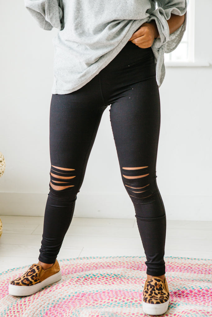 Shredded Out High Waist Leggings | Up to 2XL!