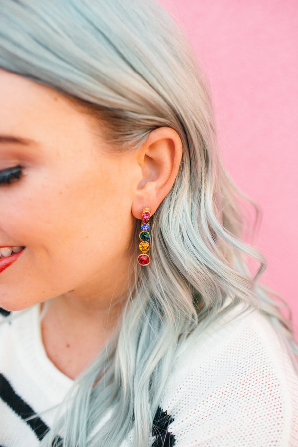 Dripping in Color Drop Earrings