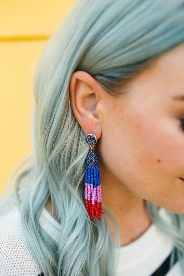 Block out the Haters Bead Drop Earrings | 2 Colors!