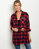 Patches Plaid Button Up | 2 Colors!
