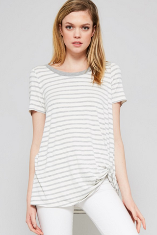 Simple Stripe Knot Top