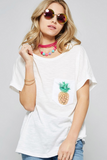 Pineapple Pocket Tee | 4 Colors!