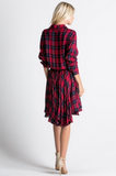 Pleats And Thank You Flannel Dress