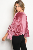 Tied Together Velvet Top | 2 Colors!