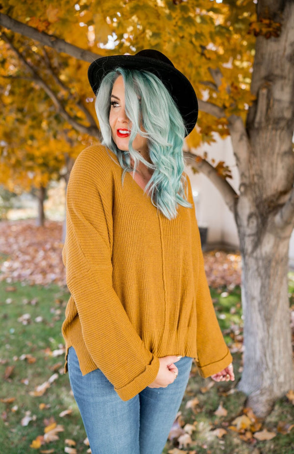 Clark Cable Knit Wide Sleeve Sweater | 2 Colors!