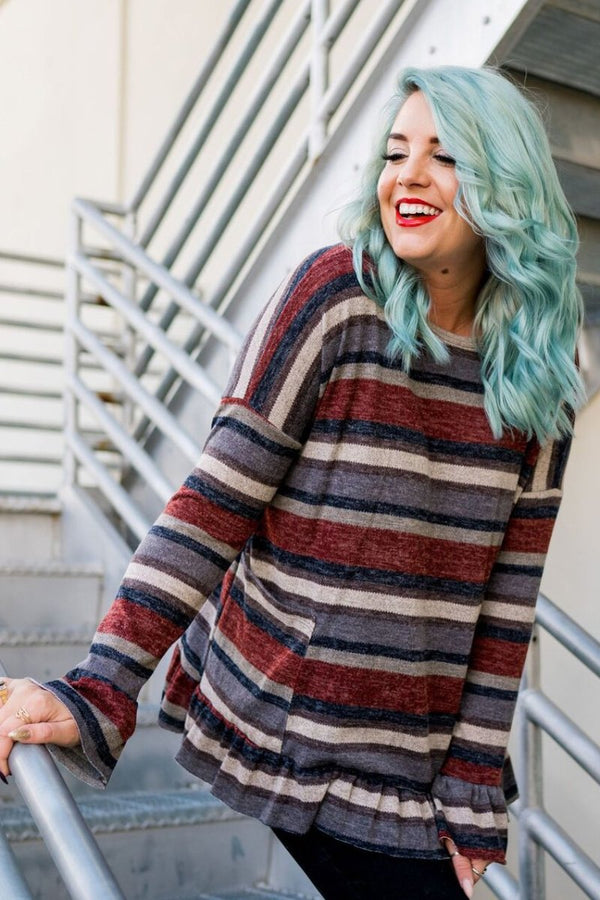 Earth To Stripe Tunic Top