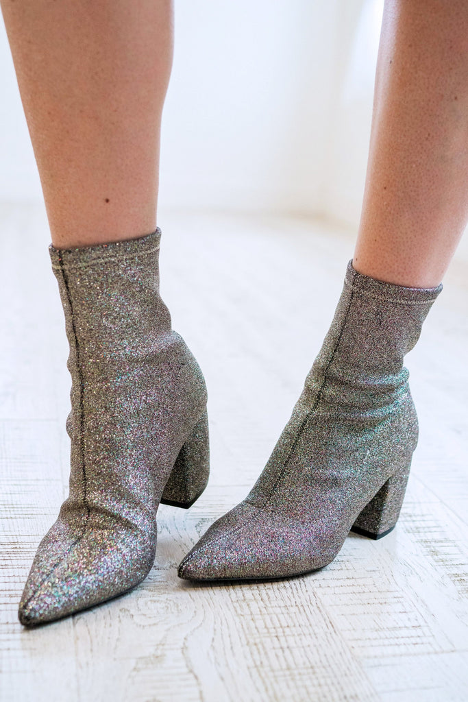 Glitter Sock Ankle Booties | 2 Colors!