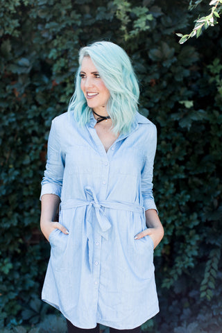 Simply Denim Dress - 2 Colors!