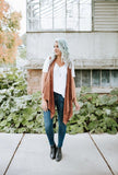 Acid Wash Draped Vest | 2 Colors!