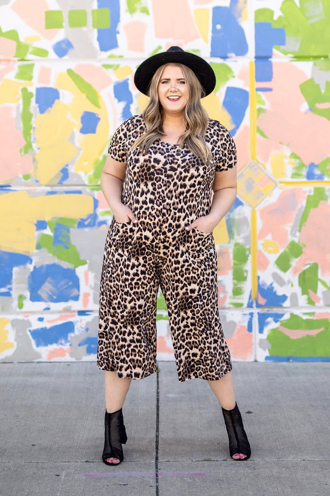 Foxy Leopard Jumpsuit | Up to 3X!