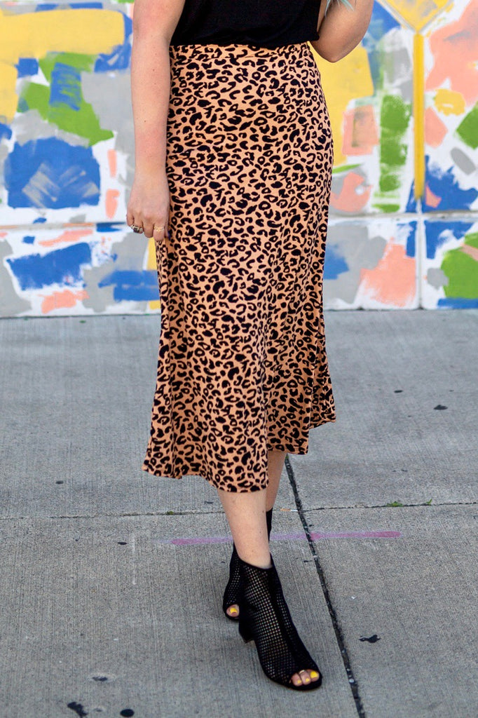 Flawlessly Leopard Midi Skirt | 3 Colors!